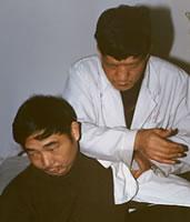 Tui Na in Xian TCM hopsital 1997